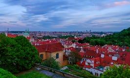 Paesaggio urbano di Praga Fotografia Stock