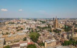 Paesaggio urbano di Riga fotografia stock