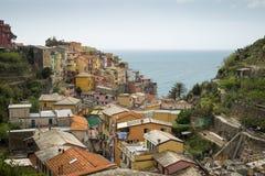 Paesaggio urbano di Riomaggiore Fotografia Stock
