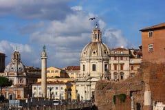 Paesaggio urbano di Roma capitale italiana Fotografia Stock