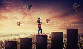 Paesaggio urbano di salita fotografia stock libera da diritti