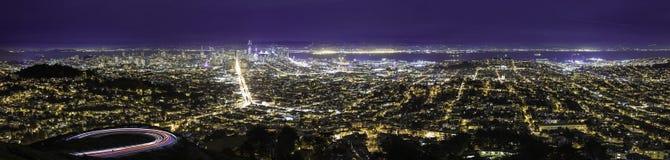 Paesaggio urbano di San Francisco e di Oakland Fotografia Stock Libera da Diritti