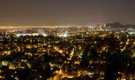 Paesaggio urbano di Santiago Fotografia Stock Libera da Diritti