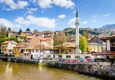 Paesaggio urbano di Sarajevo Immagine Stock Libera da Diritti