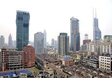 Paesaggio urbano di Schang-Hai Immagini Stock