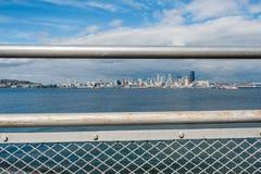 Paesaggio urbano di Seattle incorniciato Immagini Stock Libere da Diritti