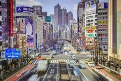 Paesaggio urbano di Shinjuku Fotografia Stock Libera da Diritti