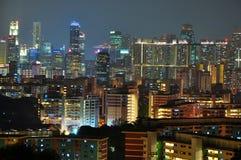 Paesaggio urbano di Singapore dal Mt Faber Fotografia Stock Libera da Diritti