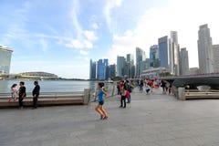Paesaggio urbano di Singapore verso la fine del pomeriggio Fotografia Stock