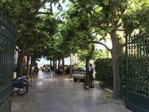 Paesaggio urbano di paesaggio di Sorrento, Italia Fotografia Stock