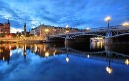 Paesaggio urbano di Stoccolma immagini stock