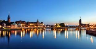 Paesaggio urbano di Stoccolma fotografie stock libere da diritti