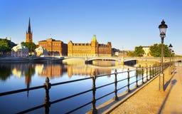 Paesaggio urbano di Stoccolma fotografia stock libera da diritti
