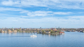 Paesaggio urbano di Stoccolma Fotografia Stock