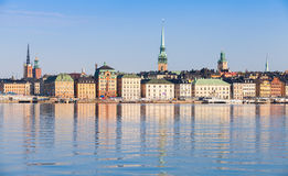 Paesaggio urbano di Stoccolma Isola di Gamla Stan Immagini Stock