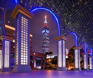 Paesaggio urbano di Taipeh immagini stock libere da diritti