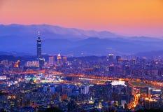 Paesaggio urbano di Taipeh Fotografia Stock Libera da Diritti