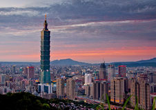 Paesaggio urbano di Taipei Fotografia Stock Libera da Diritti