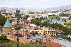 Paesaggio urbano di Tbilisi Fotografia Stock Libera da Diritti