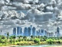 Paesaggio urbano di Tel Aviv Fotografie Stock Libere da Diritti