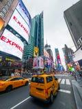Paesaggio urbano di tempo di giorno di Time Square fotografia stock libera da diritti