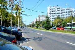 Paesaggio urbano di Tipical a Bucarest Immagine Stock