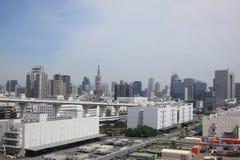 Paesaggio urbano di Tokyo Fotografia Stock Libera da Diritti