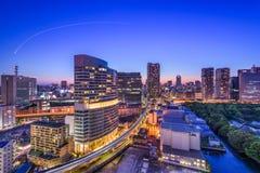 Paesaggio urbano di Tokyo, Giappone Fotografia Stock Libera da Diritti