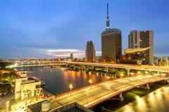Paesaggio urbano di Tokyo nel Giappone Fotografia Stock