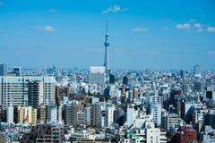 Paesaggio urbano di Tokyo nel tempo di giorno Fotografie Stock Libere da Diritti