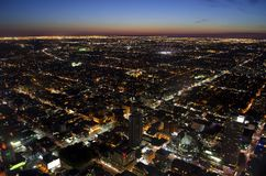 Paesaggio urbano di Toronto al crepuscolo Fotografie Stock Libere da Diritti