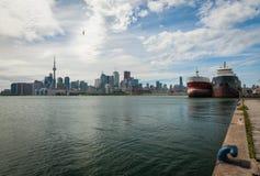 Paesaggio urbano di Toronto nel Canada fotografia stock