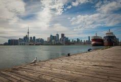 Paesaggio urbano di Toronto nel Canada fotografie stock libere da diritti
