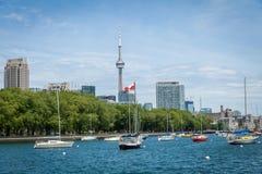 Paesaggio urbano di Toronto nel Canada immagine stock libera da diritti