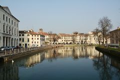 Paesaggio urbano di Treviso Fotografia Stock