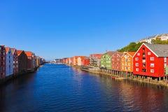 Paesaggio urbano di Trondeim, Norvegia Fotografia Stock Libera da Diritti
