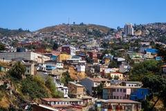 Paesaggio urbano di Valparaiso, Cile Fotografie Stock