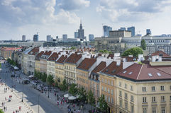 Paesaggio urbano di Varsavia - vista dalla vecchia città Fotografia Stock Libera da Diritti