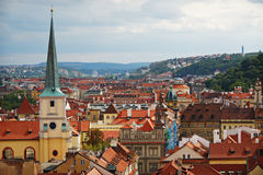 Paesaggio urbano di vecchia Praga Immagine Stock Libera da Diritti