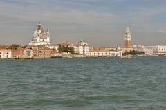 Paesaggio urbano di Venezia, laguna del fron di vista L'Italia Fotografia Stock Libera da Diritti