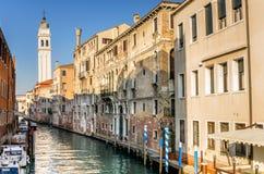 Paesaggio urbano di Venezia un chiaro giorno di inverno Fotografia Stock Libera da Diritti