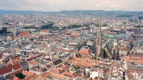 Paesaggio urbano di Vienna stock footage