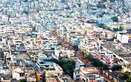 Paesaggio urbano di Vijayawada Fotografia Stock Libera da Diritti