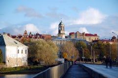 Paesaggio urbano di Vyborg Fotografia Stock