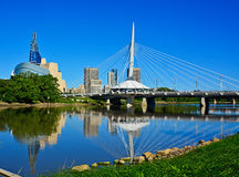 Paesaggio urbano di Winnipeg Fotografie Stock Libere da Diritti