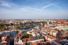 Paesaggio urbano di Wroclaw in Polonia Immagine Stock