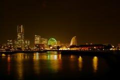 Paesaggio urbano di Yokohama alla notte Immagine Stock Libera da Diritti