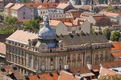 Paesaggio urbano di Zagabria fotografie stock libere da diritti