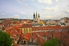 Paesaggio urbano di Zagabria Fotografie Stock
