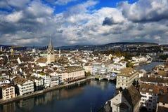 Paesaggio urbano di Zurigo immagine stock